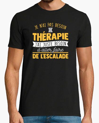 Camiseta regalo de terapia de escalada