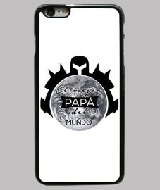 regalo día del padre El mejor papa del mundo Funda iPhone 6 Plus, negra