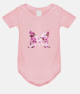 Regalo niña, mariposa rosa, flores rosas / Body bebé,