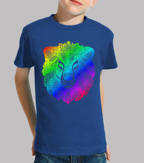 regenbogen löwe zentangle kinder t-shirt