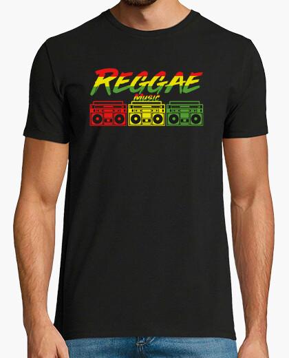 Reggae roots boombox jamaica t-shirt