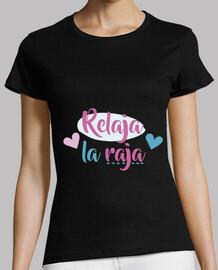 relax raja, woman, short sleeve, black, premium quality