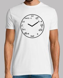 Reloj matemático Negro