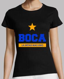 Remera Mujer Boca Juniors La mitad mas uno