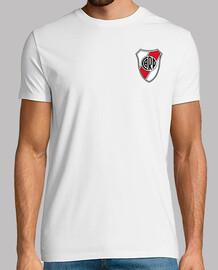 Remera River Plate - Escudo (Delante) - Borrachos del tablón (Detrás)