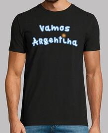 Remera Vamos Argentina (Delante) - Bandera Argentina (Detras)