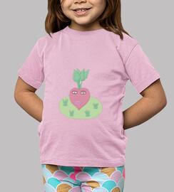 Remolacha Corazón: camiseta niño o niña