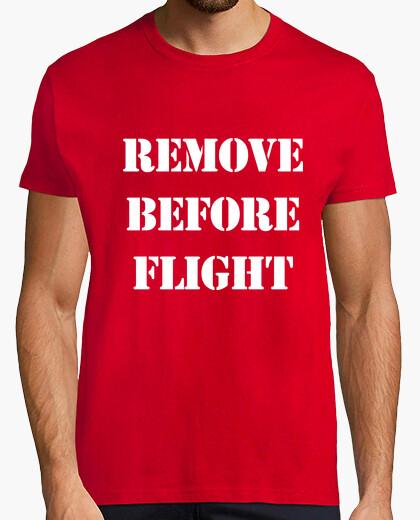 Camiseta Remove before flight (militar)