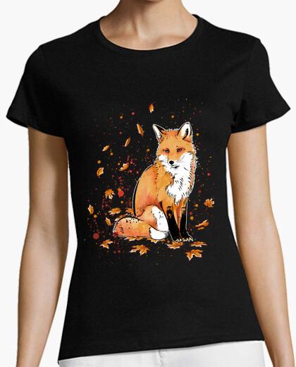 Tee-shirt renard dans la nuit