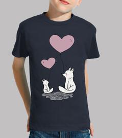renards ballons coeur