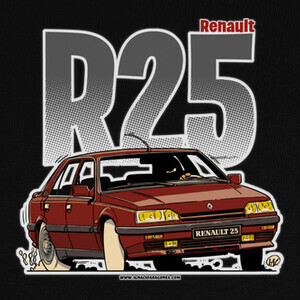 Camisetas RENAULT 25 TURBO GRANATE