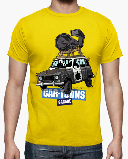 Camiseta Renault 4L BLUES BROTHERS