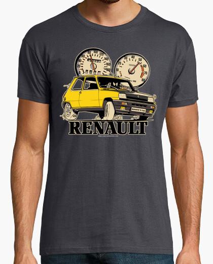 Tee-shirt renault 5 coupe jaune