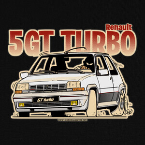 Camisetas RENAULT 5 GT TURBO BLANCO