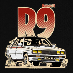 Camisetas RENAULT 9 TURBO BLANCO