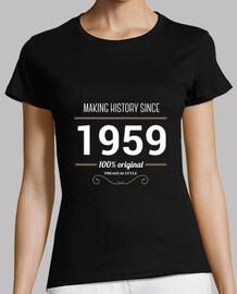 rendant l'histoire depuis 1959 blanc