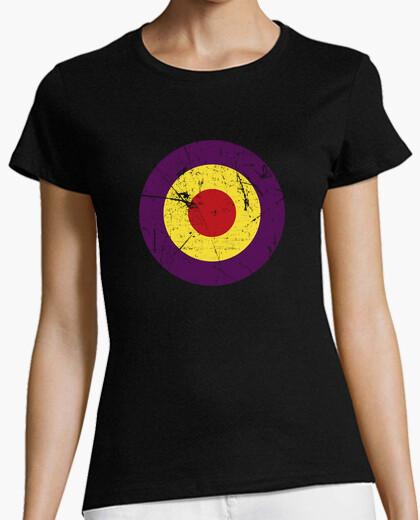 Camiseta República Círculo Desgastado Inverso (Mujer)