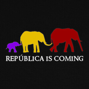 Camisetas República is Coming (blanco)