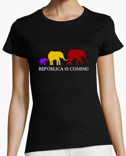 Camiseta República is Coming (blanco) - Chica
