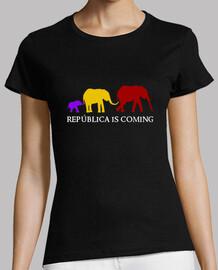República is Coming (blanco) - Chica