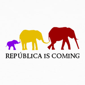 Camisetas República is Coming (negro)