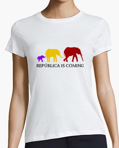 Camiseta República is Coming (negro) - Chica