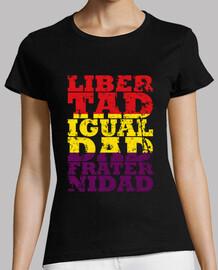 république - liberté, égalité et fraternité (femme)