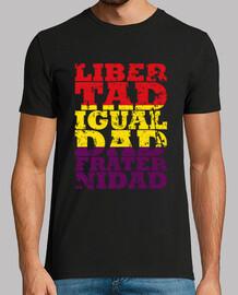 république - liberté, égalité et fraternité (homme)