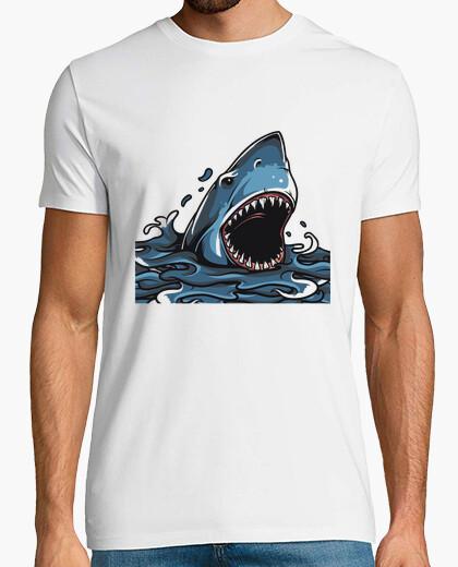 Tee-shirt requin en angry