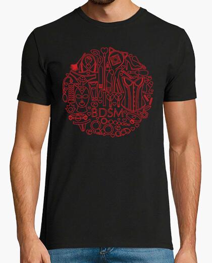 Tee-shirt réseau icônes rondes bdsm