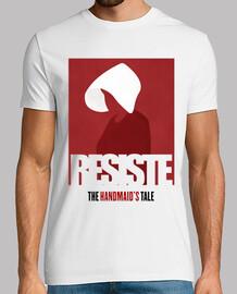 RESISTE - El Cuento de la Criada - Hombre, manga corta, blanco, calidad extra