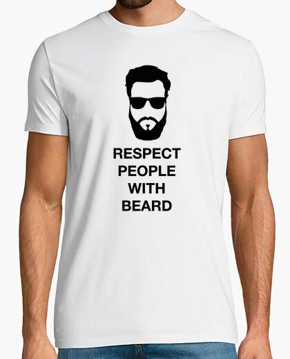 T-Shirt respect menschen mit bart