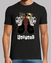 respect t-shirt divertente animali della t-shirt divertente