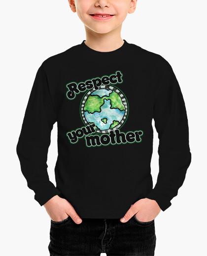 Ropa infantil respeta a tu madre día de la tierra