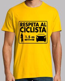 Respeta al Ciclista hombre