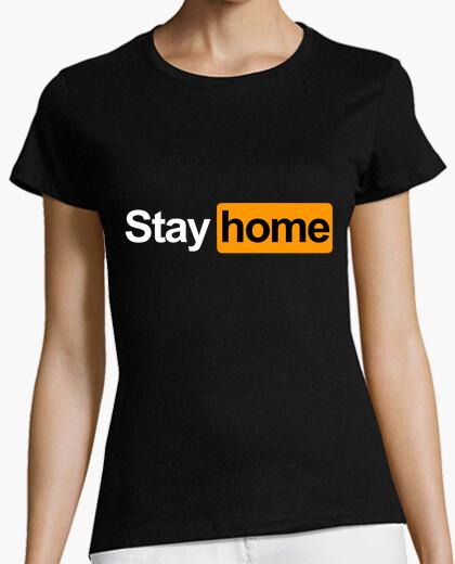 Tee-shirt reste à la maison
