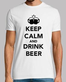 reste calme et bois de la bière
