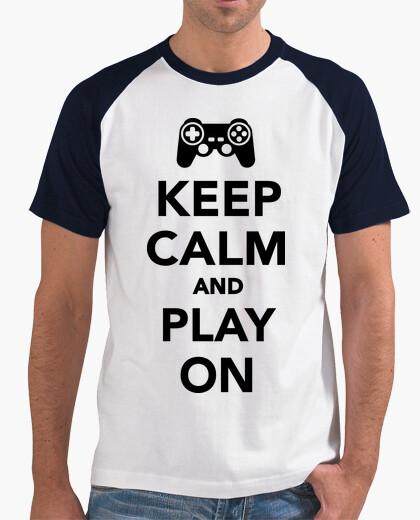 Tee-shirt Reste calme et joue