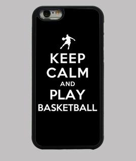 reste calme et joue au basketball
