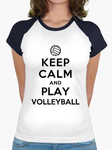 Tee-shirt reste calme et joue au volleyball