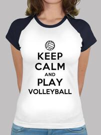 reste calme et joue au volleyball