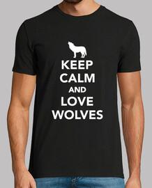 reste calme et love loup