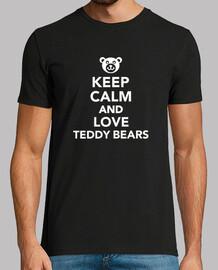 reste calme et love ours en peluche