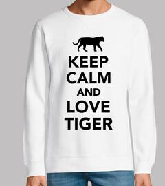 reste calme et love tigre