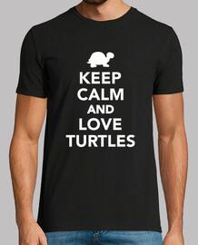 reste calme et love tortue