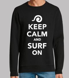 reste calme et surfe sur