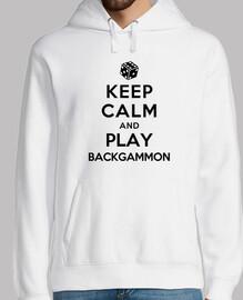rester calme et jouer au backgammon