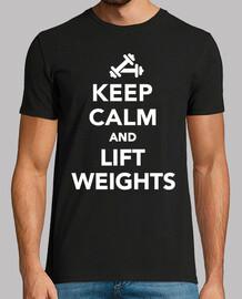 rester calme et soulever des poids