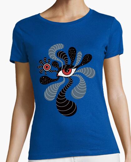 Tee-shirt résumé surréaliste double œil rouge