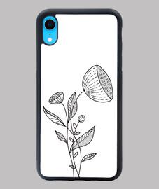 Resumen flor doodle elegante línea arte